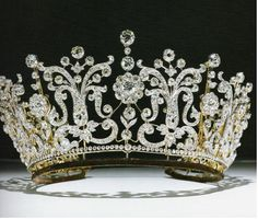 HRH princess Margaret's tiara. The Poltimore tiara, made in 1870 for Lady Poltimore, was bought at auction specially for Margaret.
