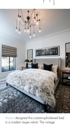 Beautiful Bedroom Wouldn't use fur (certainly) or faux fur for the bed spread but instead some other chunky texture