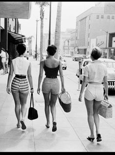 shorter shorts hit the mainstream in the late 50s. women became more comfortable with their bodies and wanted more leisure wear.