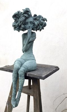 Bronze - Valérie Hadida - Sculptures - Architecture and Art - Nagel Love Time 2020 Alberto Giacometti, Art Sculpture, Sculpture Ideas, Metal Sculptures, Abstract Sculpture, Contemporary Artwork, Contemporary Sculpture, Art Plastique, Clay Art
