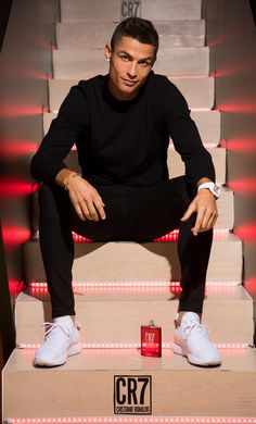 Cristiano Ronaldo Photos - Crisitiano Ronaldo celebrates the launch of his new frangrance CR7 on September 7, 2017 in Madrid, Spain. - CR7 Cristiano Ronaldo Fragrance Unveiling