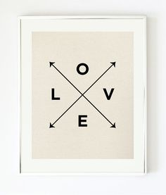 Love X Type Print - Nautical Love Print by Pretty Chic