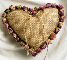 Valentines Day decorations, gifts, flowers and more. All at discount prices! Burlap Ring Pillows, Burlap Fabric, Burlap Lace, Save On Crafts, Arts And Crafts, Heart Shaped Rings, Heart Ring, Country Wedding Cakes, Burlap Crafts
