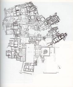 The plan of the palace in Kato Zakro, Crete