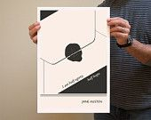 Original Illustration, Jean-Paul Sartre quotation - Fine Art Prints - Art Posters - Literature inspired art - = via Etsy. LOVE these for office/library