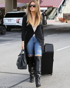Invest in a pair of Givenchy boots like Khloe #DailyMail