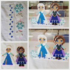 Frozen project perler beads by Virginia Thai