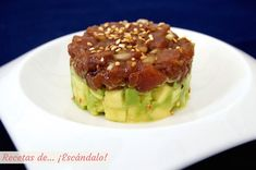Fish Recipes, Appetizer Recipes, Dessert Recipes, Healthy Recipes, Healthy Foods, Cute Food, Good Food, Tapas, Salmon Y Aguacate