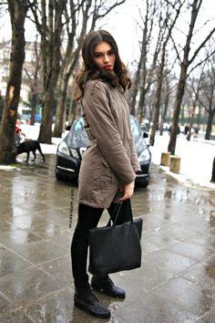 Antonina Vasylchenko, Paris, January 2013. Work it, work it, you own it.....