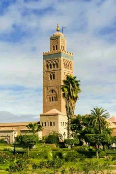 Marrakech, Morocco: minaret of Koutoubia Mosque. Islamic Architecture, Art And Architecture, Beautiful Mosques, Beautiful Places, Marrakesh, Marrakech Morocco, Photos Voyages, World View, North Africa