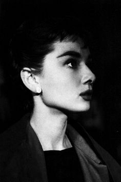 Audrey Hepburn on the set of Sabrina, photographed by Mark Shaw in 1953.