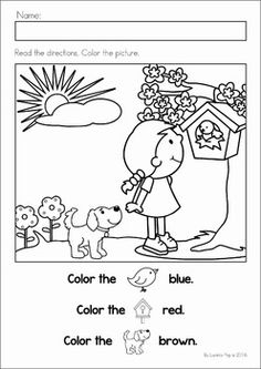 spring preschool worksheets activities comprehension colors and the o 39 jays. Black Bedroom Furniture Sets. Home Design Ideas