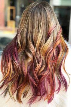 Haare mit strähnen blonde bunten Kurze Rote