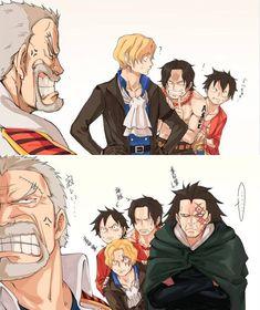 +dragon and garp – – Monkey D Luffy One Piece Manga, Ace One Piece, One Piece Meme, One Piece Comic, One Piece Funny, One Piece Fanart, Girls Anime, Anime One, Too Funny