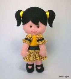 Maria Eduarda #tresmarias #artesanato #mariaeduarda #decor #decoração #infantil #festa #feltro #costura #boneca #molde #marrispe #feitoamao
