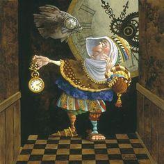 James Christensen - Tempus Fugit (http://www.hiddenridgegallery.com/store/james-christensen/tempus-fugit.html)