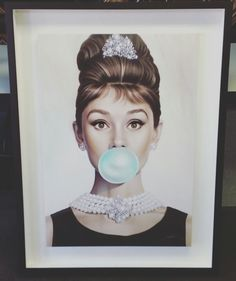 """""""Tiffany Blue"""" by artist Michael Moebius! Custom framed with white suede matting and shadowbox frame by Universal Arquati! #art #pictureframing #customframing #denver #colorado #michaelmoebius #tiffanyblue"""