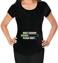 Pregnancy Sale Affordable  Sexy  Baby Loading Funny Maternity Shirt Medium Black ** Want additional info? Click on the image.