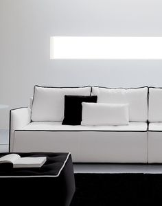 ANTARES #Sofa with removable cover by @bontempidesign #design Marco Corti