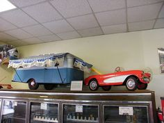 Corvette pedal car and trailer by Bagel!, via Flickr