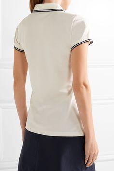 Tory Sport - Coolmax® Cotton-blend Piqué Polo Shirt - White - medium