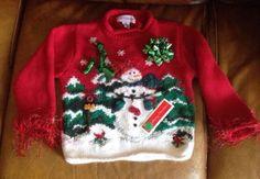 $29.99 Free Shipping Kids Boys Girls Ugly Tacky Unisex Youth Cristmas Sweater Croft & Barrow L/6