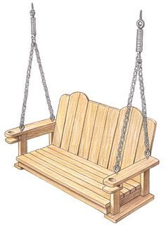 How to build a porch swing. Downloadable PDF with detailed instructions.