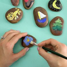 Boredom be gone! The next time your kiddos complain about having nothing to do paint objects on flat rocks and challenge them to create a story with them! #Vocalpoint