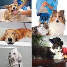 Pet Grooming Glove Brush Hair Massage Cat Dog Fur Tool Deshedding Mitt Remover