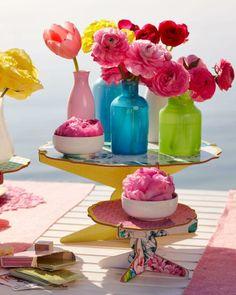 Floral cake stand. @Jan of Poppytalk x @Target Collection. #adoredecor #summer