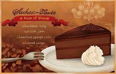 Cafe Demel ☕ ️Sacher-Torte 耶耶畫完了~我可以去吃蛋糕休息了😂 #sachertorte #vienna #illustration #foodporn #crewlife #travel #chocolatecake Yummery - best recipes. Follow Us! #foodporn
