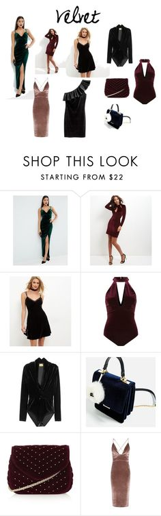 """Velvet"" by aloveforprettythings on Polyvore featuring moda, ASOS, New Look, Topshop, Boohoo y Fall2016"