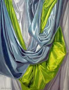Green and Blue Drapery study Painting  - Green and Blue Drapery study Fine Art Print
