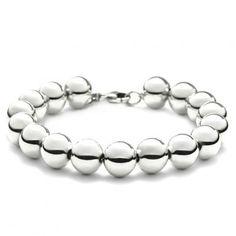 Bling Jewelry Sterling Silver Beads Bracelet 7.5 Inch