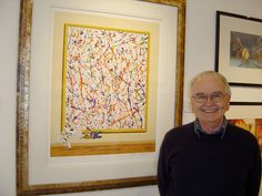 A very proud Brian Cosgrove with his Danger Mouse collection on a visit to the gallery