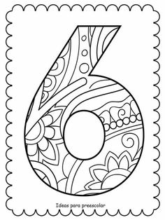 Colouring Pages, Coloring Books, Number Recognition, Nouvel An, Diy Garden Decor, Letters And Numbers, Easy Drawings, Line Art, Homeschool