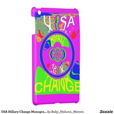 USA Hillary Change Monogram  #Art #design #Beautiful #amazing #change #products
