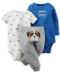 Carter's Baby Boys' 3-Piece Bodysuits & Pants Set