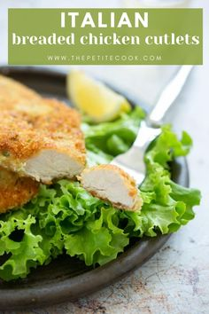 Loved by kids and grown-ups, Italian breaded chicken cutlets (cotolette di pollo) are crispy on the outside and tender and juicy on the inside, and ready in under 30 minutes! #chicken #italian #quickdinner Thin Sliced Chicken, Chicken Slices, Baked Chicken Cutlets, Breaded Chicken, Cheap Meals, Cheap Recipes, Light Recipes, Original Recipe, Healthy Recipes