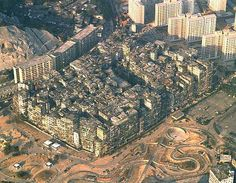 Kowloon Walled City aka Hak Nam (City of Darkness) from above make-money-online.biz Passive income blog -- #urban #luxury #hongkong