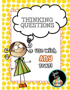 Thinking Questions to use with ANY TEXT! The perfect comprehension and metacognition tool to use with guided reading or RTI group. Comprehension Strategies, Reading Strategies, Reading Activities, Guided Reading, Teaching Reading, Reading Comprehension, Creative Teaching, Teaching Tips, Differentiated Instruction