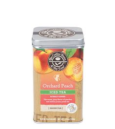 Orchard Peach Iced Tea We have expanded our signature Iced Tea line with the introduction of Orchard Peach Iced Tea. The sweet, succulent flavor of orchard fresh peaches perfectly complements the grassy essence of this green tea. Grown in the mountains of Peach Green Tea, Peach Ice Tea, Coffee Center, Bbq Ribs, Brewing Tea, Iced Tea, Healthy Smoothies, Coffee Beans, Pouches