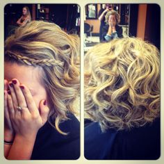 Short hair can be curled!