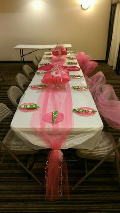 Princess Pillow Baby Shower Table Setting