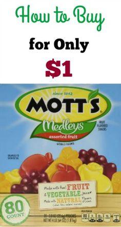 Mott's Fruit Snacks for Just $1   FreeCoupons.com