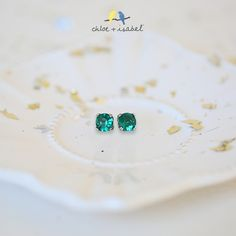 Shop the 'Birthstones by c+i' collection on my boutique today! Emerald green is one of my all time favorites.  Redhead love!