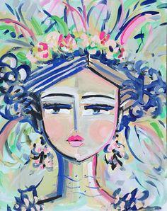 Abstract Portrait PRINT orig. canvas 8x10 11x14 woman