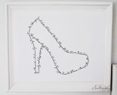 Shoe Heels Pumps Modern Calligraphy by Nicalligraphy on Etsy