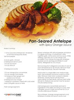 Pan-Seared antelope (or can use any horned animal like elk, deer...)