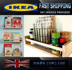 Ikea Bekvam Solid Beech Wooden Spice Rack - Kids Bedroom Book Self - Wall Rack | eBay